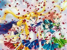 Inner Senshi new art by N. Takeuchi