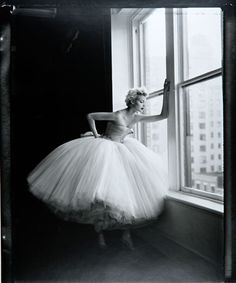 nadja auerman... i dream of someday having a reason to stand around in a poofy dress like that.