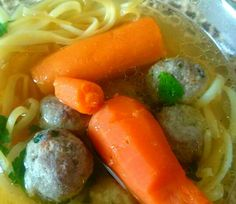 Chicken meatballs soup