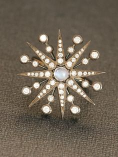 Colette 18k Diamond and Moonstone Star Ring at London Jewelers!