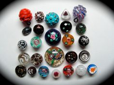 Antique and Vintage Buttons  Old Glass by SilverStreetButtons