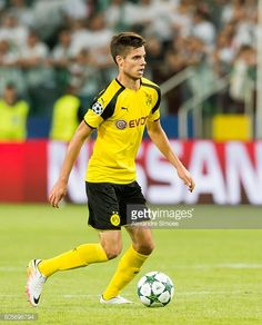 Julian Weigl of Borussia Dortmund in action during the UEFA Champions League First Qualifying Round 1st Leg match between Borussia Dortmund and Legia...