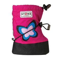 Booties - Butterfly Fuchsia