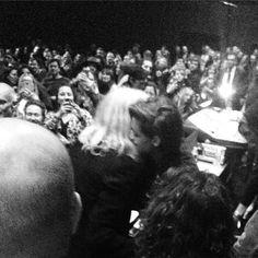 Patti Smith & Kristen hugging at Patti's concert (29/01/2015)