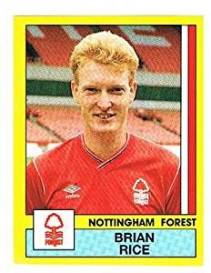 Brian Rice of Nottingham Forest - Football 87 - Panini - English & Scottish Leagues Nottingham Forest, Football Season, English, Baseball Cards, English Language