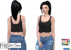 Draped Crop Tank at NyGirl Sims • Sims 4 Updates