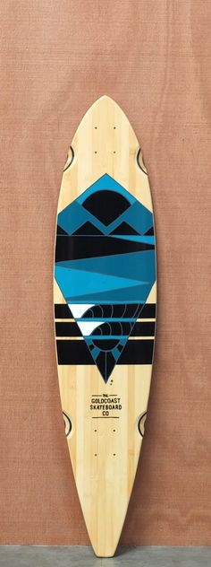 "GoldCoast 40"" Neptune Bamboo Longboard Deck"