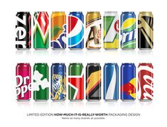 BIG BRAND THEORY: Packaging Design by Ewan Yap, via Behance...how much of your brand can you leave out?