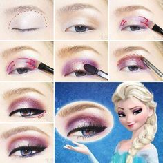 DIY Disney's Frozen Elsa Eyeshadow