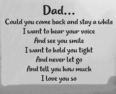 So much Pa. Could you see me even just on my dreams? I need you papa. I am so torn. I jsut wanna hug you right now papa. Even just for a second. I miss you papa. Miss My Daddy, Mom I Miss You, Love You Dad, Rip Daddy, Daddy Quotes, Missing Dad Quotes, Miss U Mom Quotes, Remembering Dad Quotes, Loss Of Mother Quotes