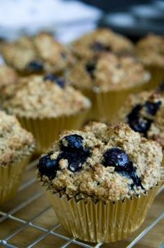 Healthy Blueberry and Banana Muffins...