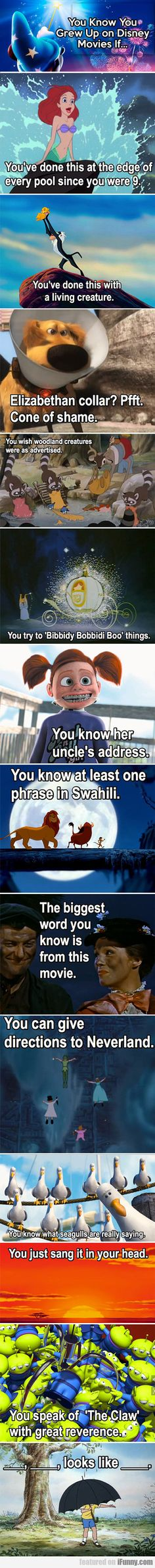 Funny pictures about You know you grew up on Disney movies if. Oh, and cool pics about You know you grew up on Disney movies if. Also, You know you grew up on Disney movies if. Walt Disney, Disney Pixar, Disney Girls, Disney And Dreamworks, Disney Love, Disney Memes, Disney Magic, Disney Stuff, Disney Quotes