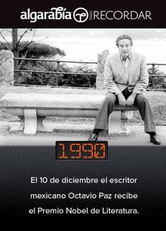 Un día como hoy, Octavio Paz recibió el Premio Nobel. (vía @pa_recordar)