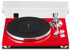 Teac TN-300-R HiFi-Plattenspieler (Riemenantrieb, 33/45rpm, USB-Ausgang für Mac/PC, Line/Phono Umschalter) rot: Amazon.de: Heimkino, TV & Video