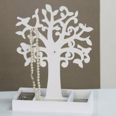 Schmuckhalter 'Tree', 34 cm, weiß: Amazon.de: Küche & Haushalt