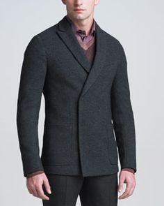 N1V73 Armani Collezioni Double-Breasted Soft Jacket. #Aim2Win