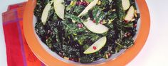 Winter kale salad with cranberries