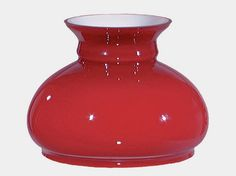 Cased Glass Red 7 inch Student Lamp Shade. Perfect for Wall Sconce or Chandelier Light Fixture, Student Desk, Table, Floor Tension or Pole Lamp.