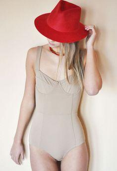 Ryan Roche Red Angora Hat