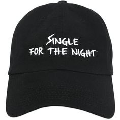Nasaseasons Women Single Night Embroidered Baseball Hat (1,360 MXN) ❤ liked on Polyvore featuring accessories, hats, accessories - hats, black, embroidered baseball hats, baseball hats, ball cap, baseball caps and embroidered hats