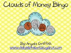 Clouds of Money Bingo is a great game for your kiddos that need to practice money recognition! Gameboards and a spinner is included with this packe... Math Classroom, Future Classroom, Classroom Ideas, Money Activities, Church Activities, Fun Math, Math Games, Teaching Math, Teaching Ideas