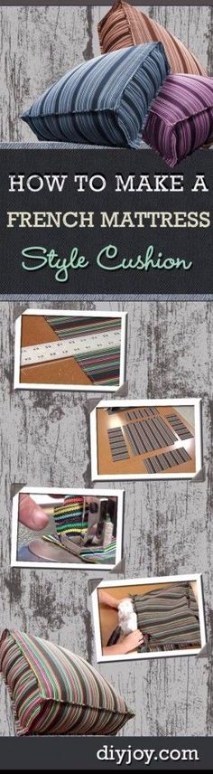 Sewing Projects for The Patio - Easy French Mattress Covers - Step by Step Instructions and Free Patterns for Cushions, Pillows, Seating, Sofa and Outdoor Patio Decor - Easy Sewing Tutorials for Beginners - Creative and Cheap Outdoor Ideas for Those Who Love to Sew - DIY Projects and Crafts by DIY JOY http://diyjoy.com/sewing-projects-patio