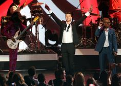 "Verdine White, Robin Thicke and  T.I. perform on ""The GRAMMY Nominations Live!! — Countdown To Music's Biggest Night"" on Dec. 6 in Los Angeles"