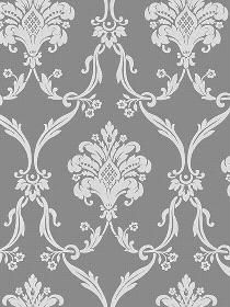 dark gray damask wall paper Love this pattern for a accent wall!
