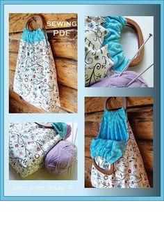 diy tote bag sewing pattern, great craft tote, beach tote, knitting bag  Rebecca Mae Designs