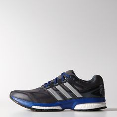 44818045031fa2 adidas - Response Boost Techfit Shoes Black   Metallic Silver   Collegiate  Royal (C76815)