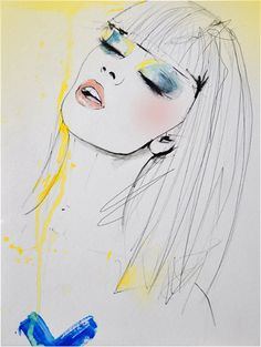 Marianne - Fashion Illustration Art Print. $28.00, via Etsy.