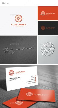 Sun Flower Logo  PSD Template • Download ➝ https://graphicriver.net/item/sun-flower-logo/11637522?ref=pxcr