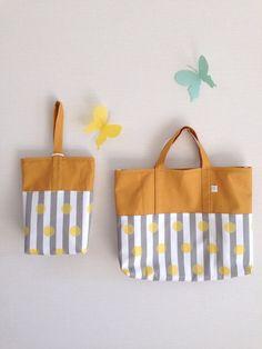 入園入学 ドット&ストライプレッスン&シューズバッグ School Bags For Kids, Kids Bags, Pouch Bag, Tote Bag, Japanese Bag, Patchwork Bags, Cloth Bags, Bag Storage, Diy For Kids