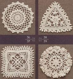 모티브도안100/ 코바늘 모티브뜨기 17 Crochet Motif, Crochet Doilies, Crochet Lace, Crochet Stitches, Tatting, Crochet Earrings, Projects To Try, Pattern, Handmade