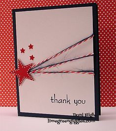 WT400 Red,White & Blue thank you by donidoodle - Cards and Paper Crafts at Splitcoaststampers