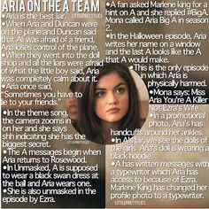 Oh my goodness is Aria part of the A team? after I read this I was pretty convinced...