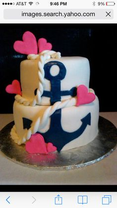 Anchor bday cake. i think this will be my 21 bday cake!