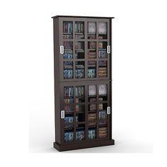 Media Cases and Storage: Multimedia Storage Rack Media Cabinet ...