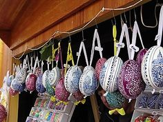 Czech easter eggs..I still have mine I got on a high school trip to Europe :)