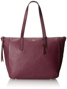 Burgundy is our favorite fall hue. Add a pop of this fall color to your outfit with this Fossil tote.