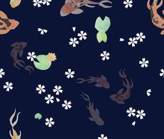 koi fabric by valerinick_ on Spoonflower - custom fabric