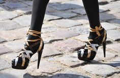 heels, tights, silver, gold, black, fashion