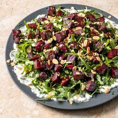 Beet Salad with Goat Cheese & Arugula Beet And Goat Cheese, Goat Cheese Salad, America's Test Kitchen Cookbook, Nytimes Recipes, Gourmet Recipes, Healthy Recipes, Beet Salad, Arugula, Soup And Salad