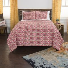 BEAUTIFUL XXXL YELLOW CLASSIC STITCH VINTAGE SCROLL SOFT BEDSPREAD QUILT SET