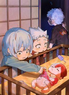 Boku No Hero Academia Funny, My Hero Academia Episodes, Hero Academia Characters, My Hero Academia Shouto, Anime Characters, Animes Yandere, Fanarts Anime, Funny Anime Pics, Cute Anime Guys