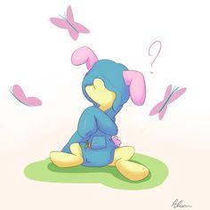 Fluttershy in bunny hoodie. by Alasou