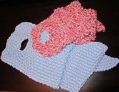Sciarpa con occhiello calda e veloce da lavorare a maglia