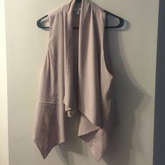 Vest Forever 21 vest.  Color is a very light tan, almost a pale pink Forever 21 Jackets & Coats Vests