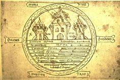 201E Macrobian world map, 15 th century in Petrus Alphonsus Dialogus Contra Judeos.