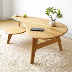 【楽天市場】幅130cm ナラ材 ナラ無垢材 木製ローテーブル ビーンズ型の美しいデザイン センターテーブル リビングテーブル VIOLA-CT-NA:JOYSTYLE interior